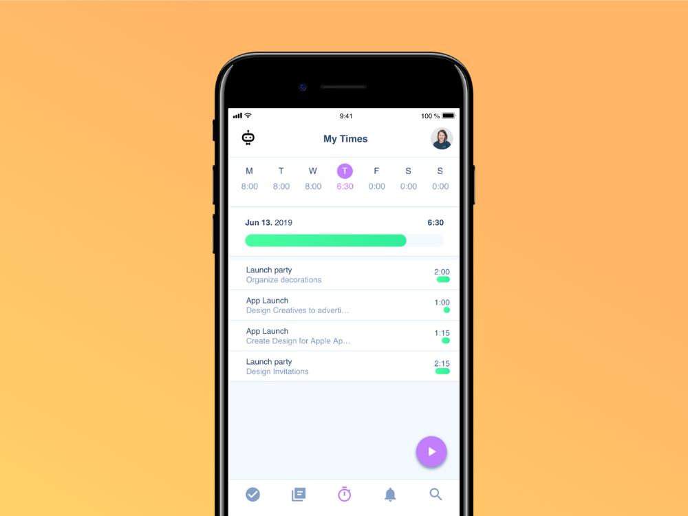 Arbeitszeiterfassung per App auf dem Smartphone mit awork