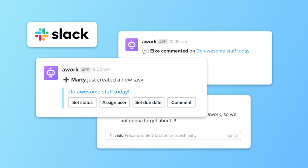 new Slack-Integration in awork