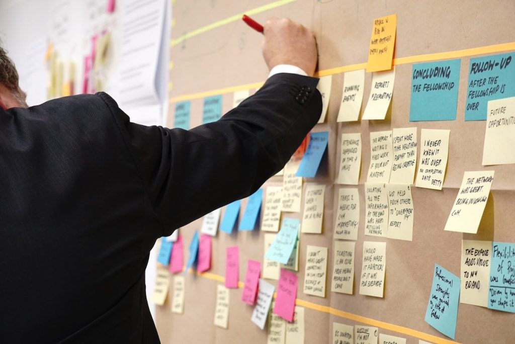 A clear and comprehensible structure is important if you create a project plan.